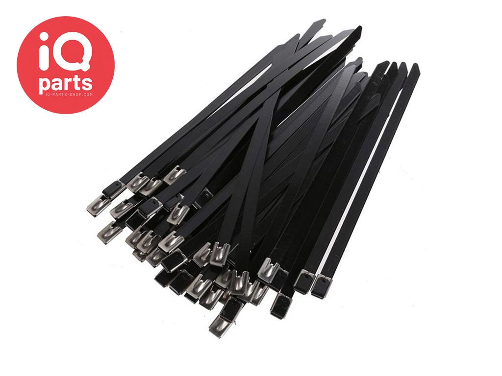Roestvrijstalen RVS 316 Kabelbinder met coating | 4,6 mm breed