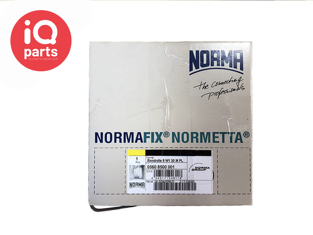 Normetta 9 mm W1 galvanized endless hose clamp band