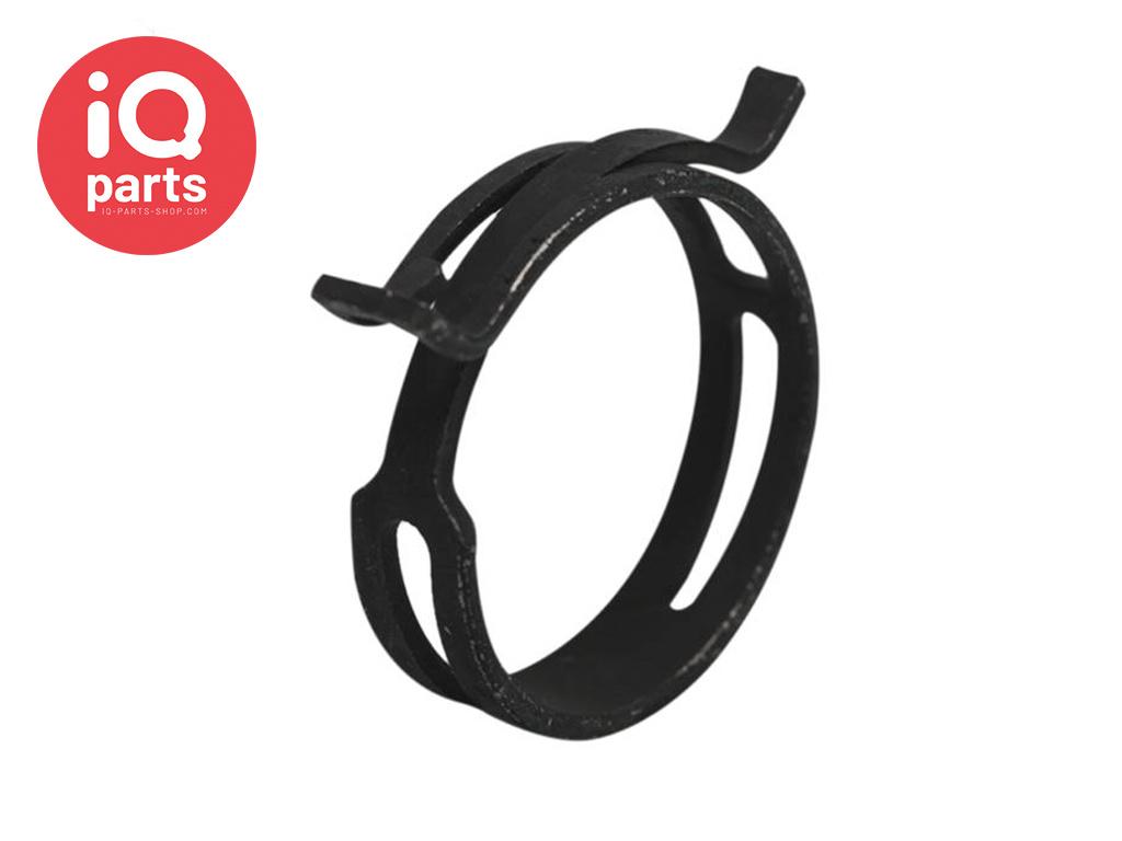 FBS DIN 3021 Spring Band Hose Clamp W1 - 12 mm bandwidth (Black)