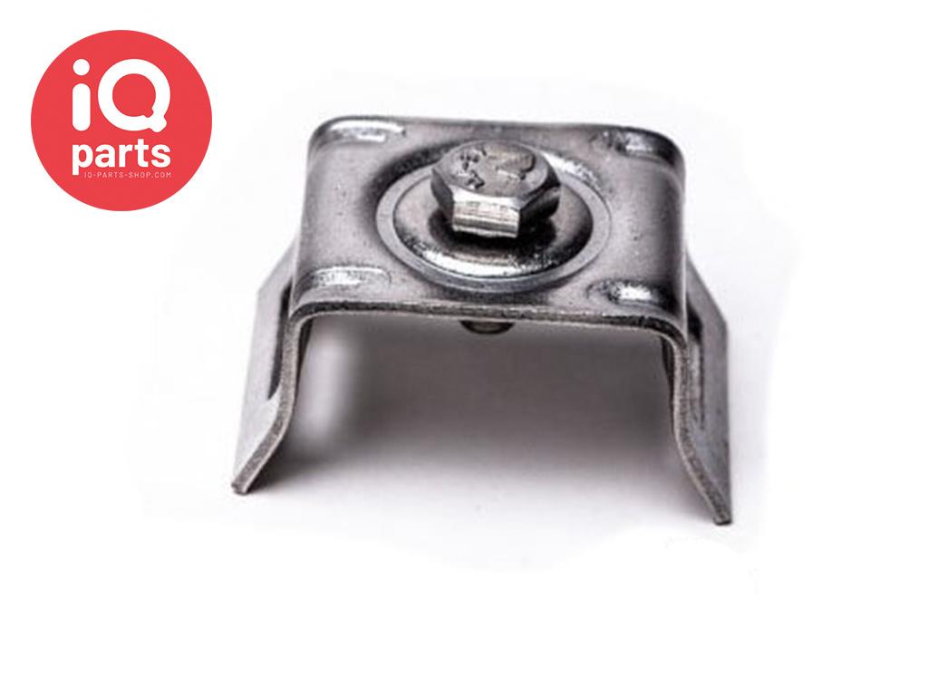 Schilderhalter mit gekröpften Schenkeln H021 & H028 - AISI 304