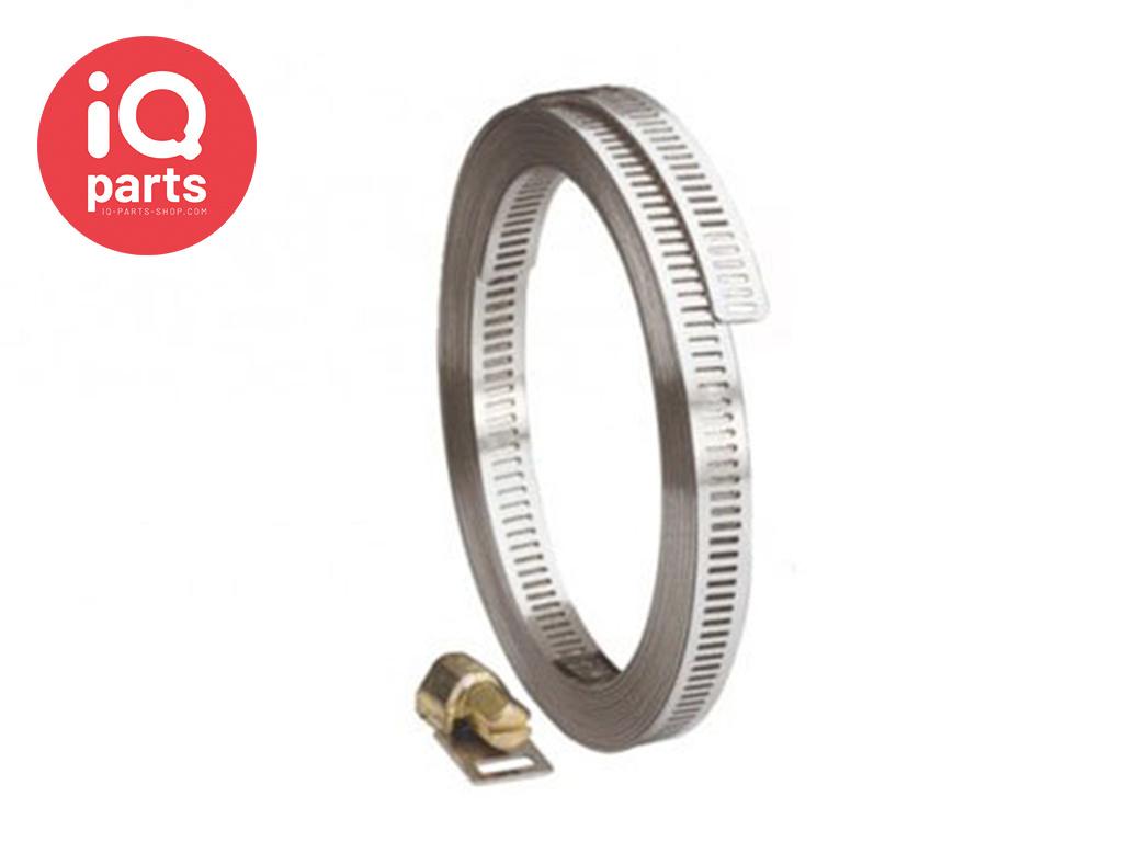 Endlose Schlauchschelle 13 mm - W4 (AISI304)