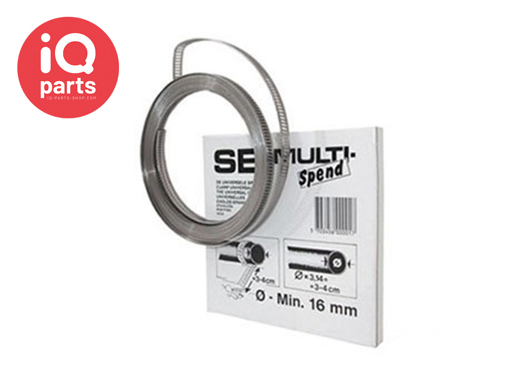 SB Multi-Spend Endless Hose Clamp band 8 mm - W2