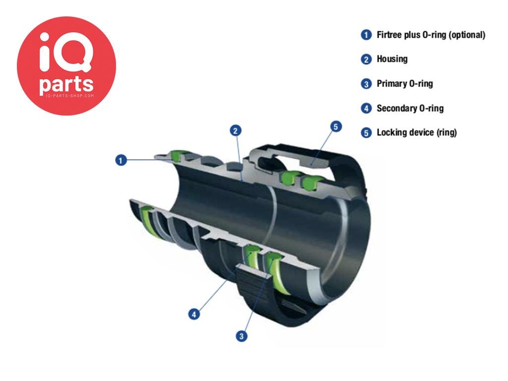 NORMA NORMAQUICK® V2 rechte Snelkoppeling 0° NW 8 - 7,7 mm