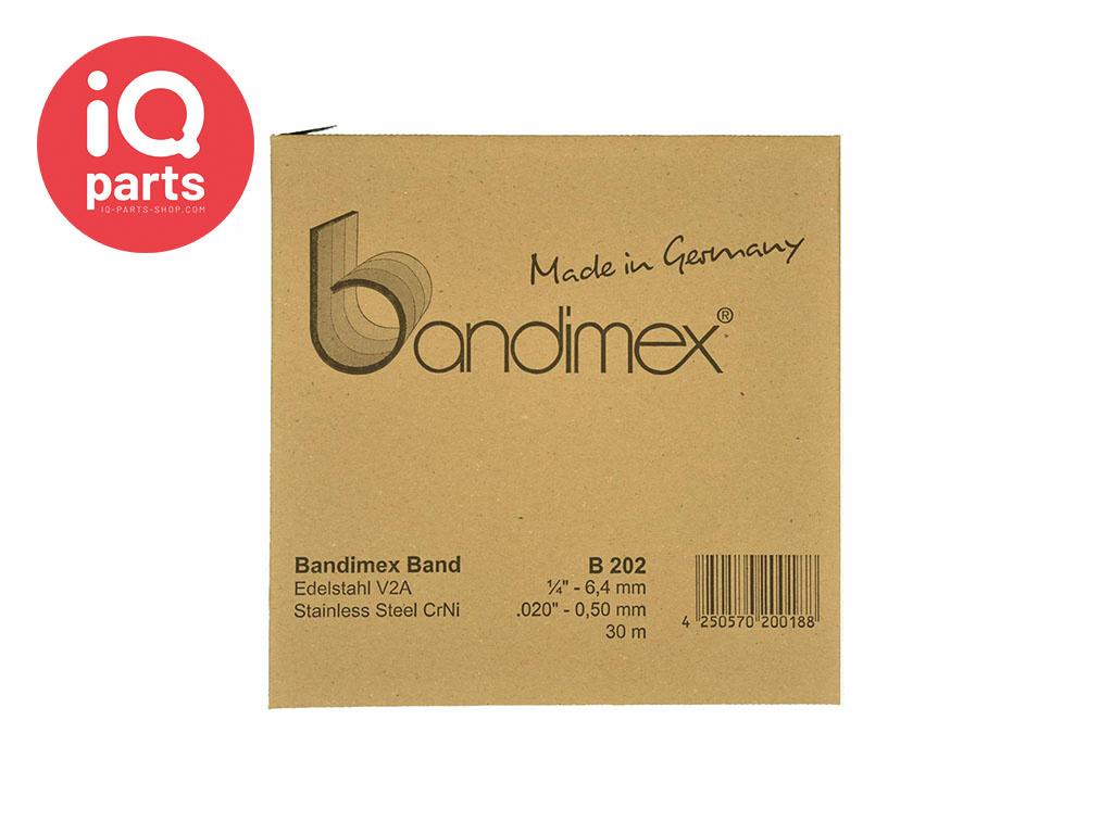 Bandimex Bandimex Clamping band V2A - W4 - Per meter