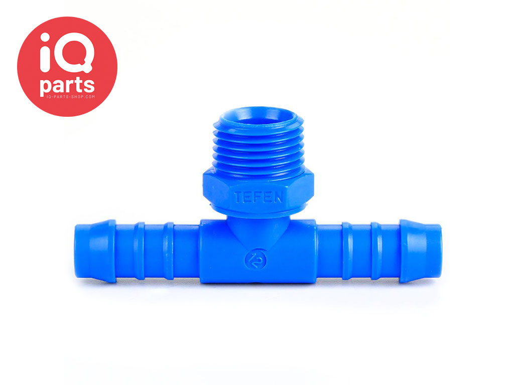 Plastic Male hose T-connector with external BSPT thread