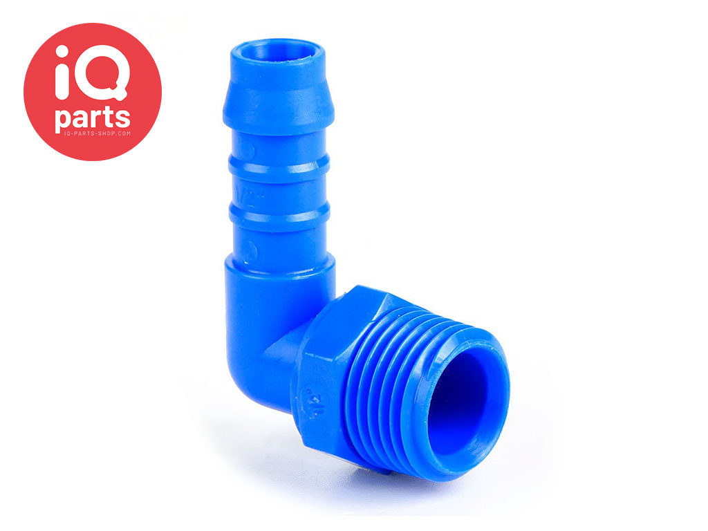 Plastic Male hose connector Elbow with external BSPT thread