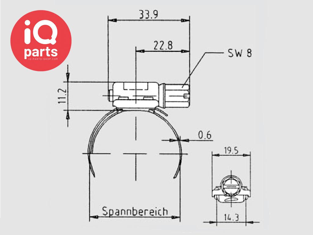 Breeze Breeze Aero BGV Worm-Gear Hose Clamp with quick-latch solution W2