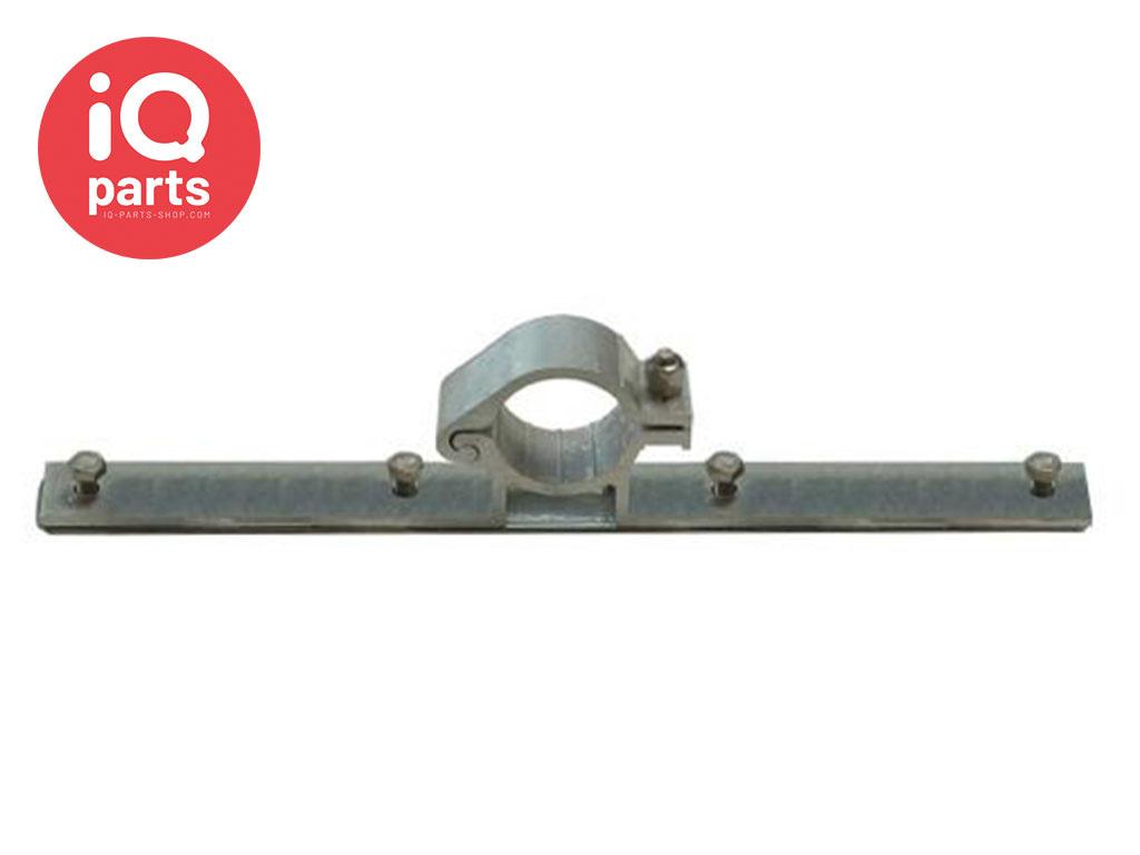 Verkeersbordbeugel Aluminium enkelzijdig, lange klemplaat, Ø 48,3 mm