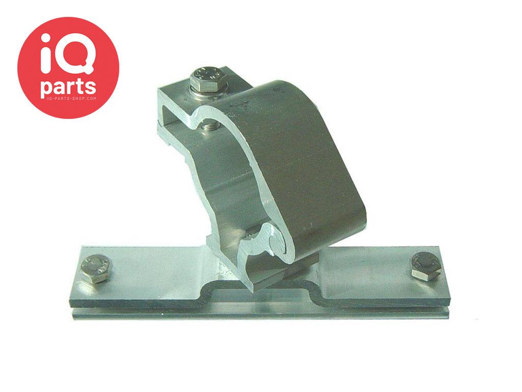 IQ-Parts Verkeersbordbeugel Aluminium enkelzijdig, Ø 48,3 mm, draaibaar, met klemplaat van 120 mm