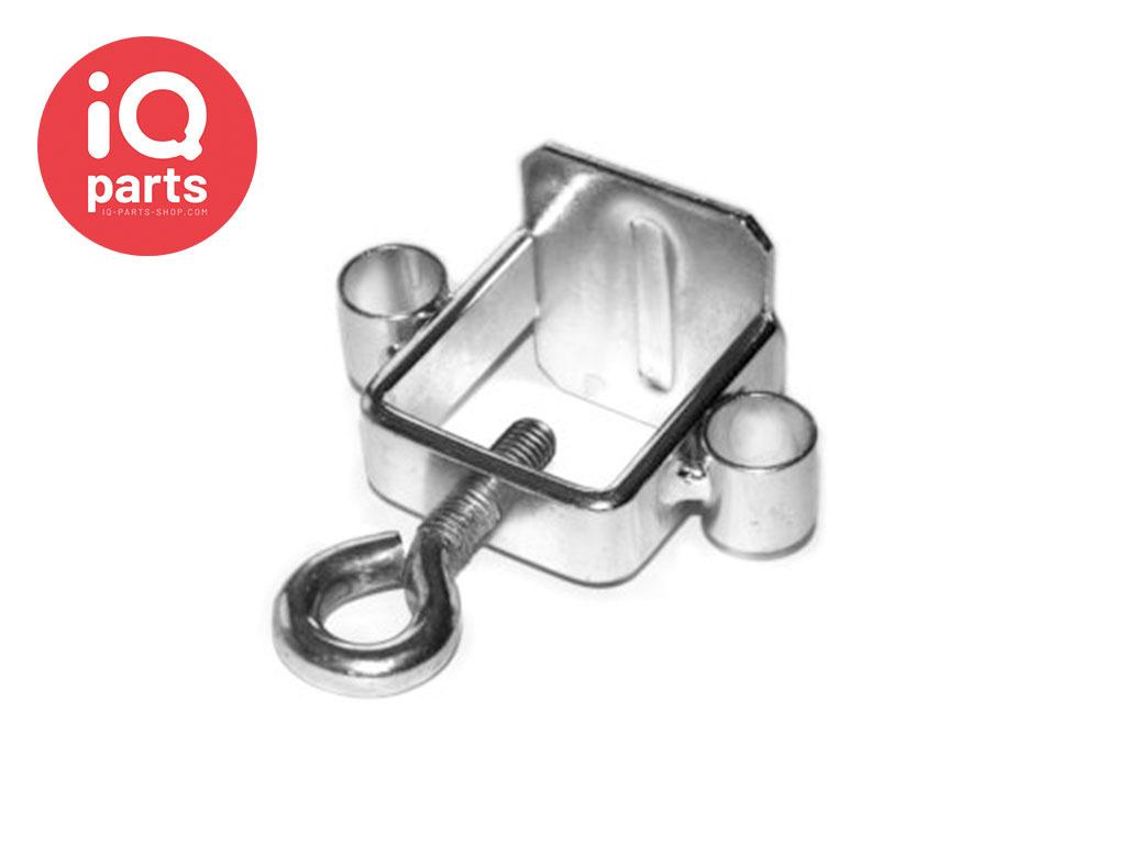 Universal Schilder-Klemmschelle Stahl mit Ohren