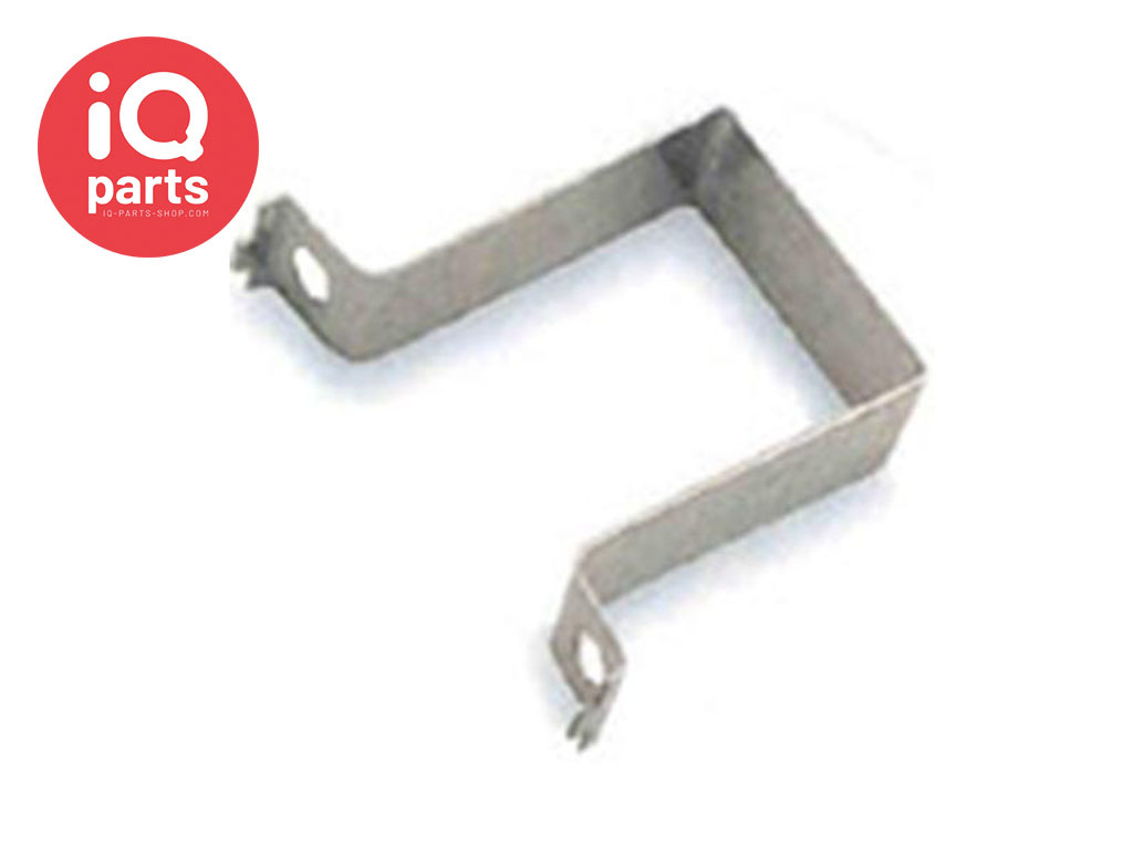 IQ-Parts Verkehrsschild Speedclip Lasche Quadrat 40 x 40 mm, Stahl W4 mit 2 Schrauben und Mutter