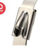 IQ-Parts Stainless steel AISI 304 - 4,6 mm Cable tie/ Tyrap