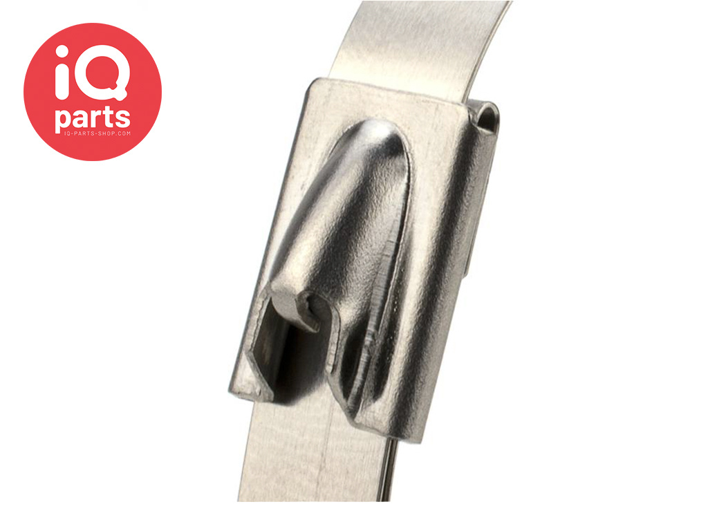 IQ-Parts Stainless steel AISI 304 - 7,6 mm Cable tie/ Tyrap