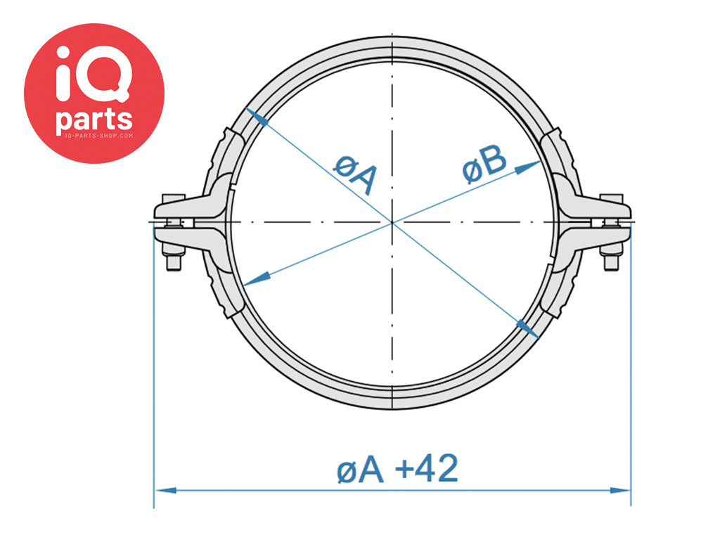 Jacob Spanring voor telescopische pijpleidingen van 1 en 2 mm wanddikte voor ring dichtingen W1