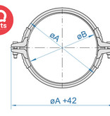 Jacob Spanring voor telescopische pijpleidingen van 3 mm wanddikte voor ring dichtingen W1