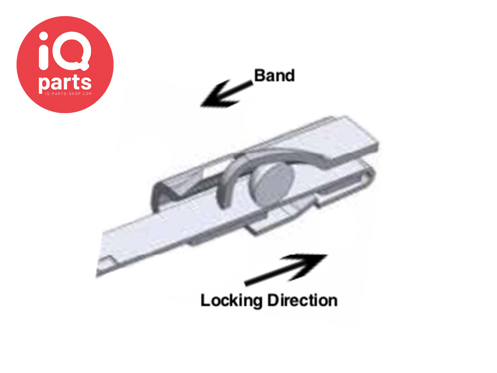 BAND-IT BAND-IT® Ball-Lokt™ Tie Stainless steel AISI 316 Cable tie - 15 mm - W5