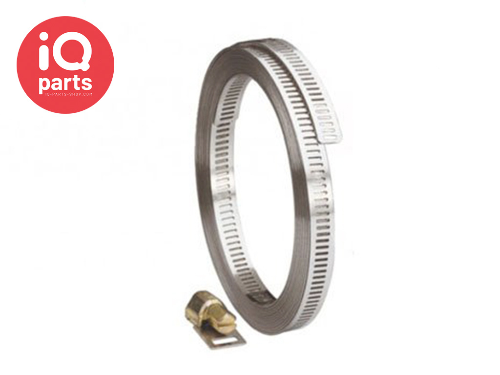 Endless hose clamp 8 mm - W4 (AISI304)