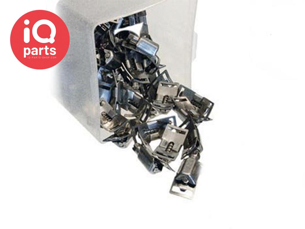 Adapflex 50 Huisjes voor Eindloze slangklem 8 mm - W2 (RVS 430)