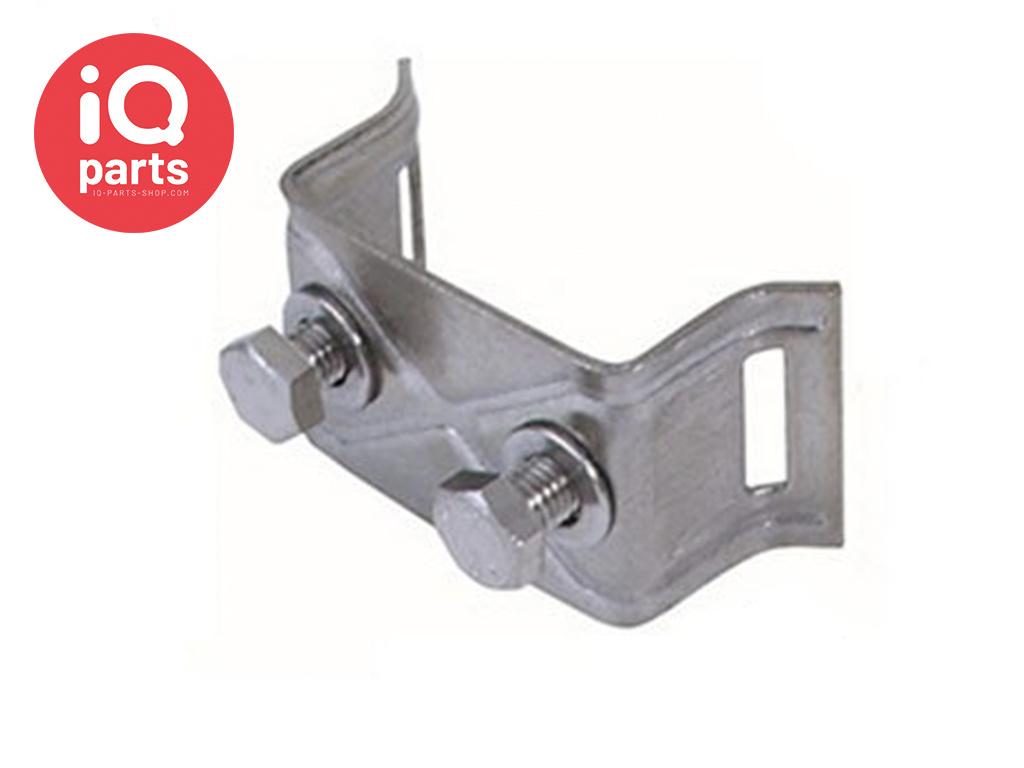 Schilderhalter mit gekröpften Schenkeln H028 - AISI 304
