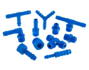 Tefen hose fittings