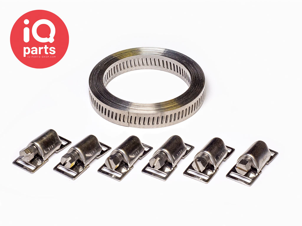 Endless hose clamp 13 mm kit - W4 (AISI304)
