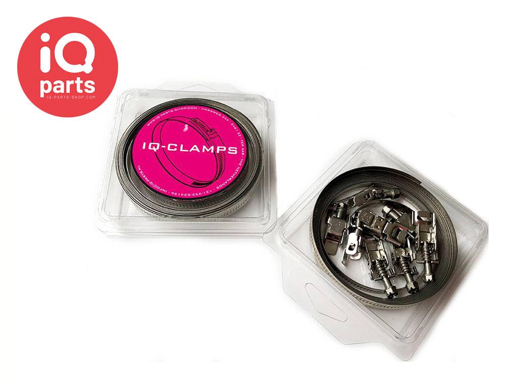 Veryflex eindloze 9 mm slangklem set | band + huisjes - W2