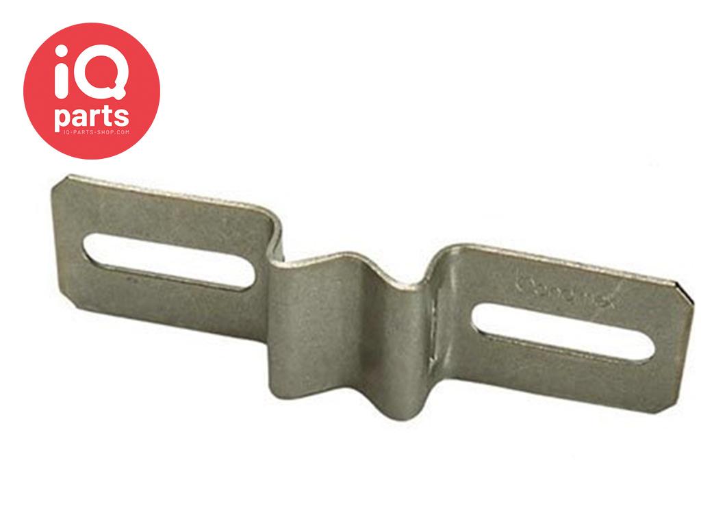 Schilderhalter mit Langlöchern H027 - AISI 304