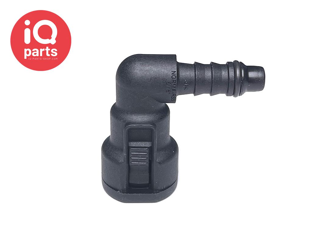 """NORMAQUICK® S Snelkoppeling NW 5/16"""" - 6 mm - 90°"""