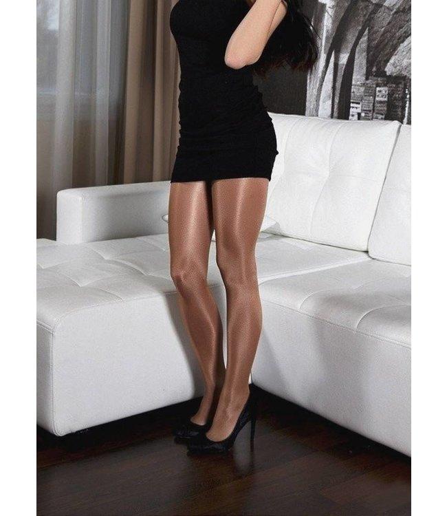 MARIANNE Kate 35 panty met glans huidkleur muskaat