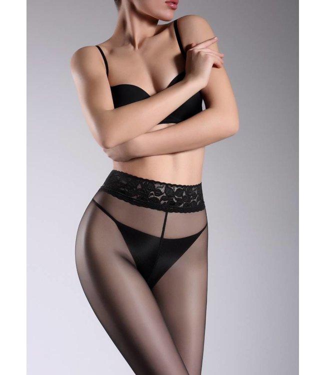 GIULIA Impresso 20 zwarte panty kanten taille