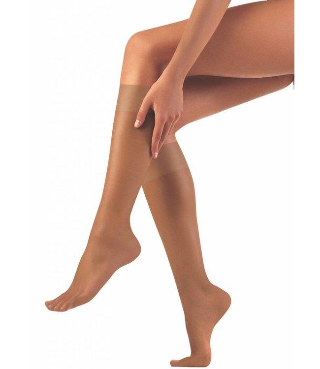 FIORE Pola 15 kniekousen huid Natural | 2 PAAR