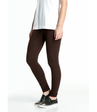 SARLINI Rose donkerbruine katoenen legging