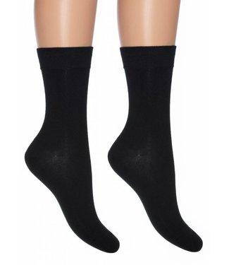 BONNIE DOON Cotton Sock dames sokken zwart