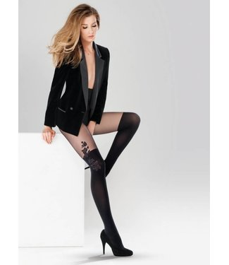 GABRIELLA Aurora panty met overknee motief Zwart