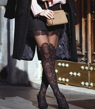 FIORE Taya 20 panty zwart met overknee motief