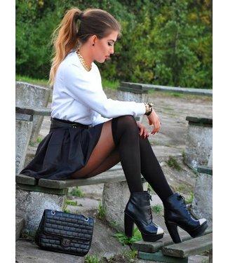 FIORE Miguela 40 panty met overknee motief Zwart