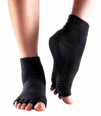 Bonnie Doon Yoga Toe Socks zwarte sokken