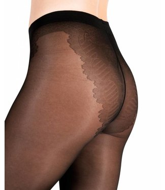 FIORE Lena 40 panty zwart met bikini broekje