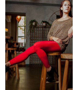 APOLLO Colour Block 60 rode enkellegging