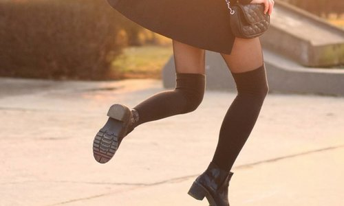 Overknees sokken