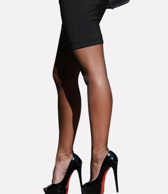 PRETTY POLLY Nylons Gloss 10 zwarte glanspanty