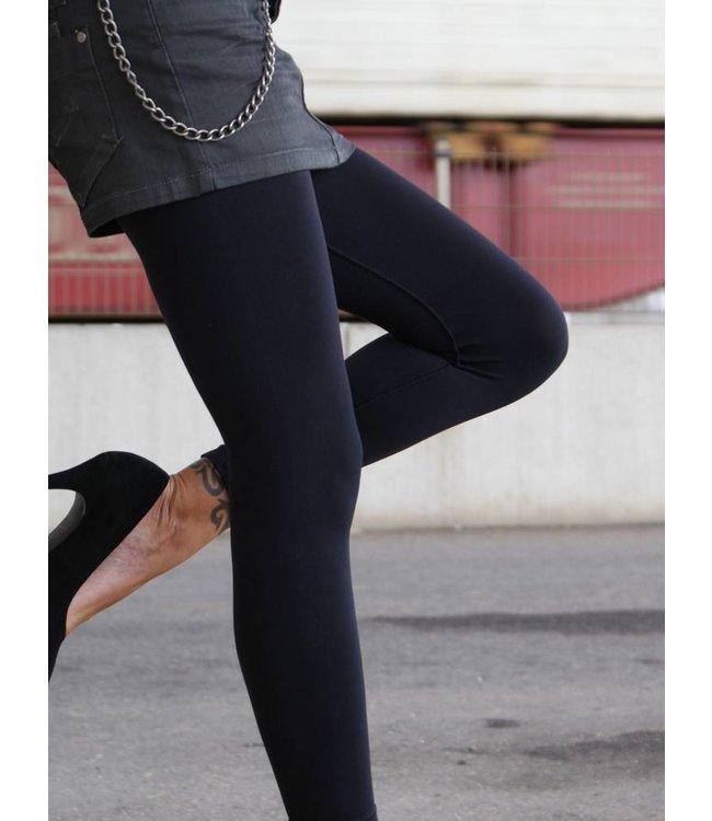 APOLLO Fiona naadloze zwarte enkellegging