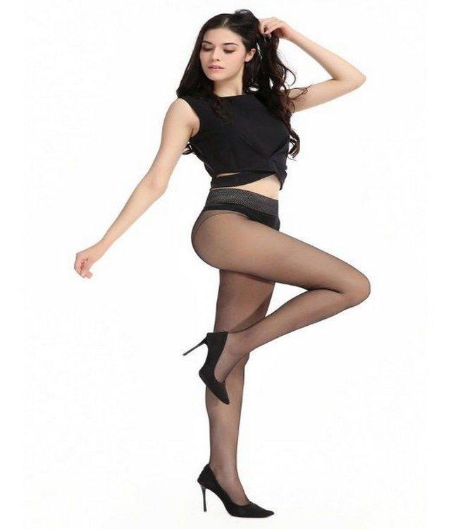 GATTA Discrete 15 panty naadloos broekje zwart