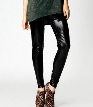 Re-Legs Gracia zwarte wetlook legging