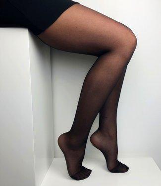 Marianne Beautiful Satin 15 zwarte glanspanty