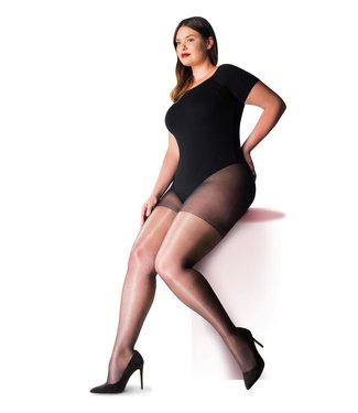 PRETTY POLLY Curves Gloss 10 plussize glanspanty