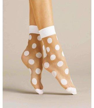FIORE Virginia 20  sokjes met stippen huidkleur