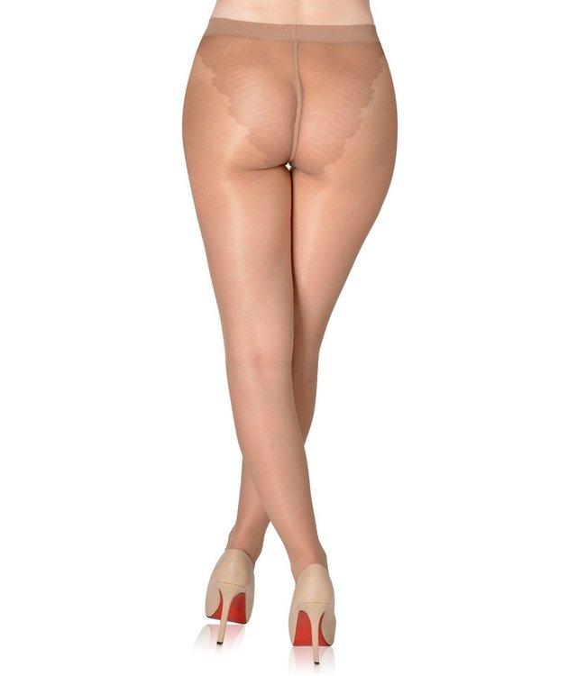 FIORE Klara 20 panty met slipmotief Light Natural