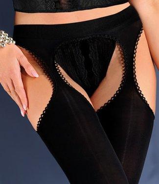 Gabriella Ksenia Microfibre 100 zwarte strippanty
