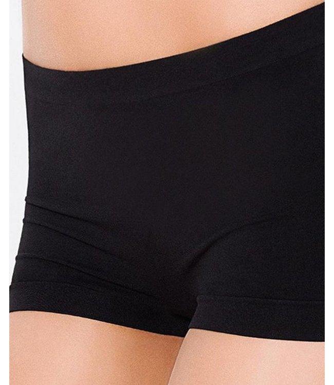 GIULIA Vita Bassa seamless shorts zwart